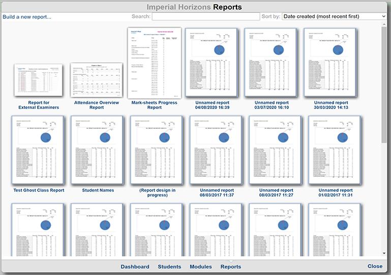 Reports screenshot
