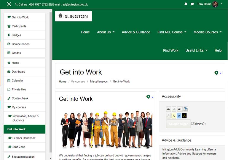 Islington Get Into Work Screenshot