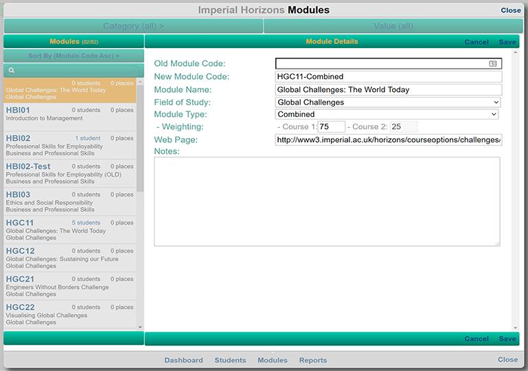 IHMS Edit Courses